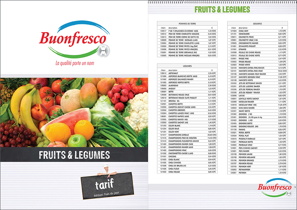 The documents in the food sector Cuisines you tarifs